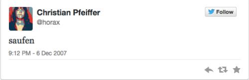 Der erste Tweet
