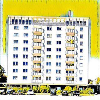 Neungeschossiges Wohngebäude
